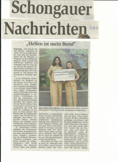 Zeitungsartikel Massage Schongau, Spa Nok Medien, Pressebericht Massage Landsberg